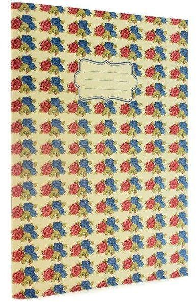 Vintage B Zeszyt A4 40 stron linia róże
