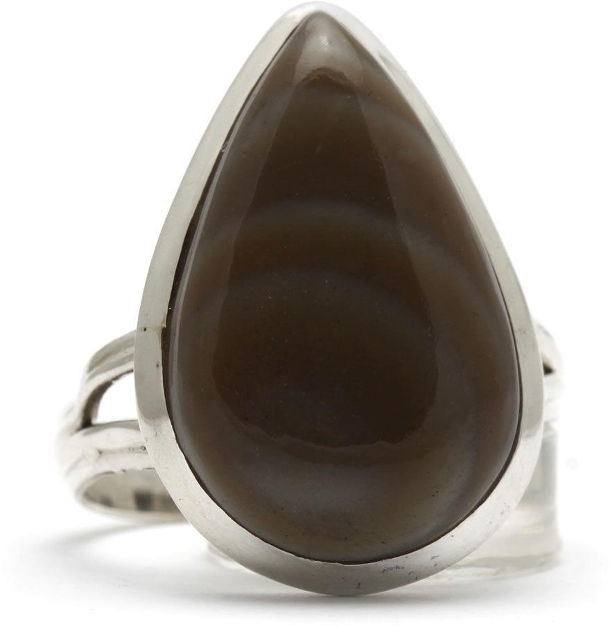 Kuźnia Srebra - Pierścionek srebrny, rozm. 21, Agat Botswański, 6g, model