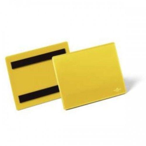 Kieszeń magazynowa magnetyczna A6 pozioma DURABLE żółta 50szt. 1756 04