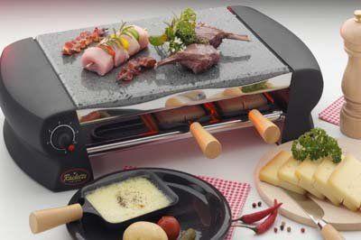 elektryczny grill Raclette SUISSE z kamienną płytą TTM