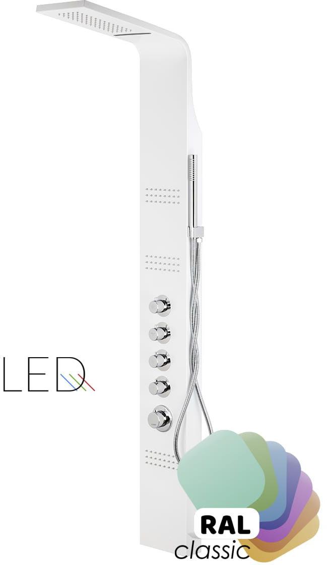 Corsan Led kaskada panel prysznicowy z termostatem A-013A LED T - dowolny kolor na zamówienie