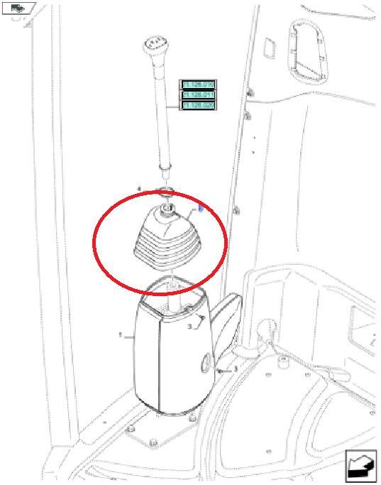 Osłona - mieszek dźwigni zmiany biegów New Holland CNH 47480642 - 84482252