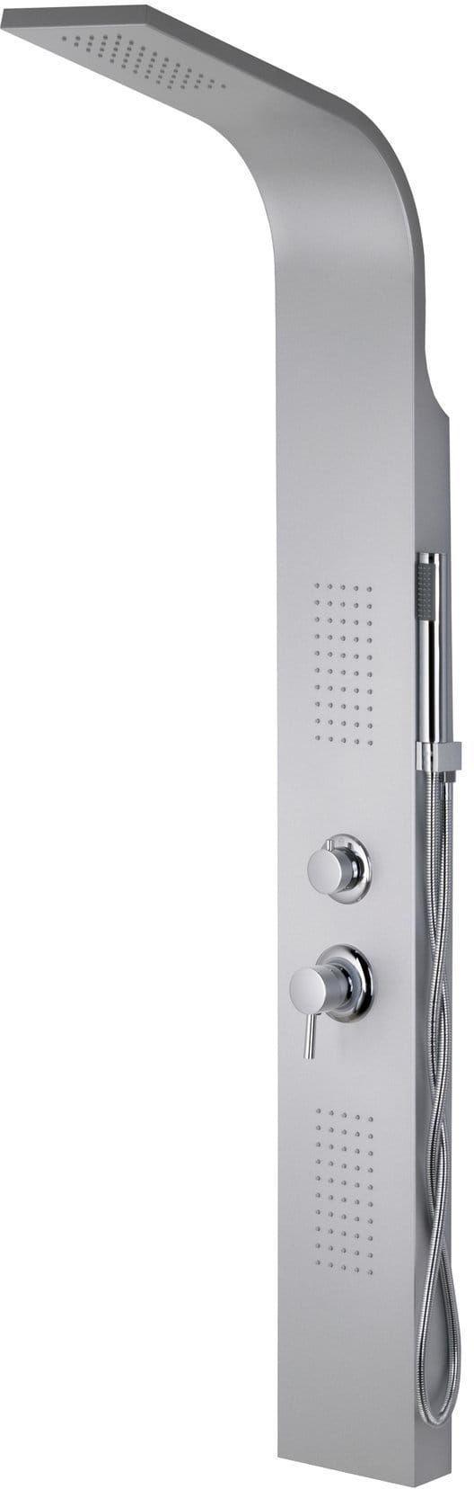 Corsan ALTO panel prysznicowy z mieszaczem gwiezdna szarość A-017M ALTO LED SREBRNY