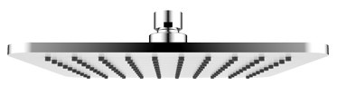 Omnires Slimline deszczownica mosiężna 20x20 cm chrom/biały WG220/OCRB