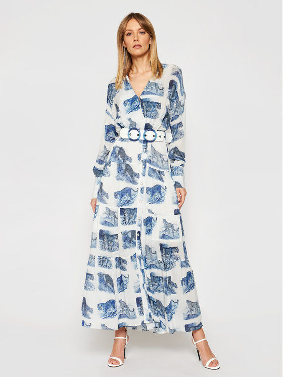 Silvian Heach Sukienka koszulowa Peakes PGP21165VE Niebieski Regular Fit