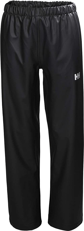 Helly Hansen dziecięce Jr Moss wodoodporne spodnie z muszli przeciwdeszczowej Czarny 14 Years