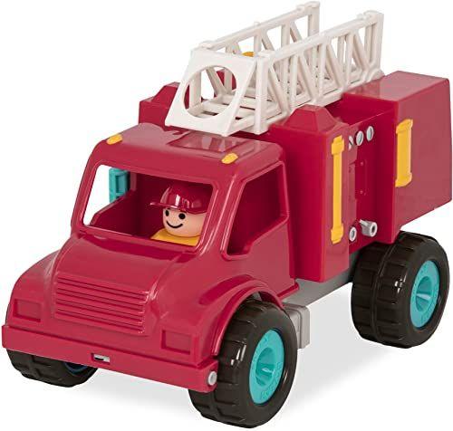 Battat BT2509Z zabawka wosk strażacki dla małych dzieci 18 m+, czerwony