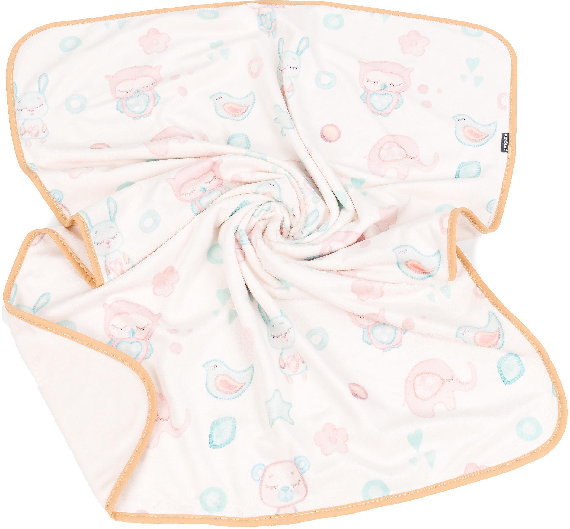 MAMO-TATO Kocyk Minky dla niemowląt i dzieci dwuwarstwowy 75x100 - Bajka