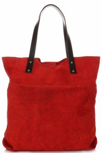 Torebki Skórzane Shopper Bag Włoskiej Marki VITTORIA GOTTI Czerwone