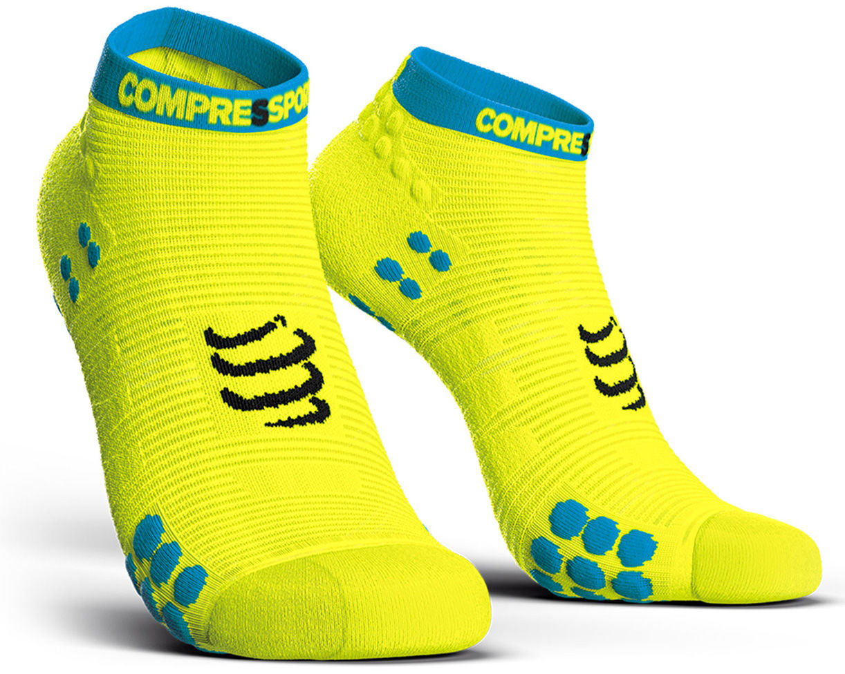 Stopki do biegania Compressport Racing Socks V3.0 Run Low Fluo Yellow