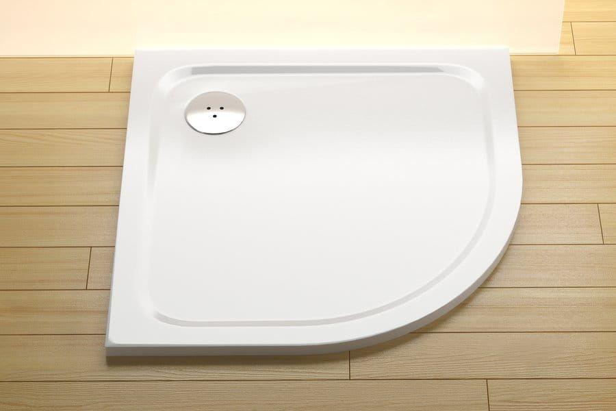 Ravak brodzik prysznicowy konglomerat niski Elipso Pro Chrome 80 biały XA244401010
