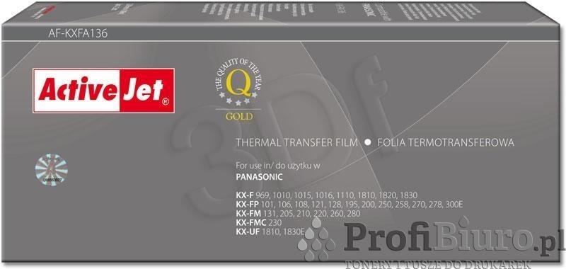 Folia AF-KXFA136 do faksu Panasonic (Zamiennik KX-FA136A) [2 rolki]