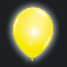 Folat 08559 żółte balony LED - 5 sztuk