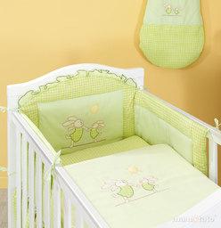 MAMO-TATO pościel 2-el Wesołe zajączki w zieleni do łóżeczka 70x140cm
