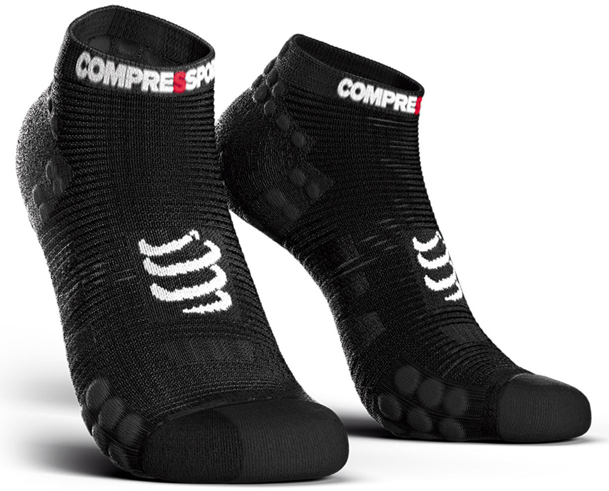 Stopki do biegania Compressport Racing Socks V3.0 Run Low Smart Black