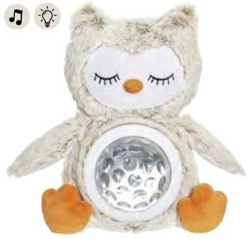 Teddykompaniet Sowa Lampka dzwięk 25cm