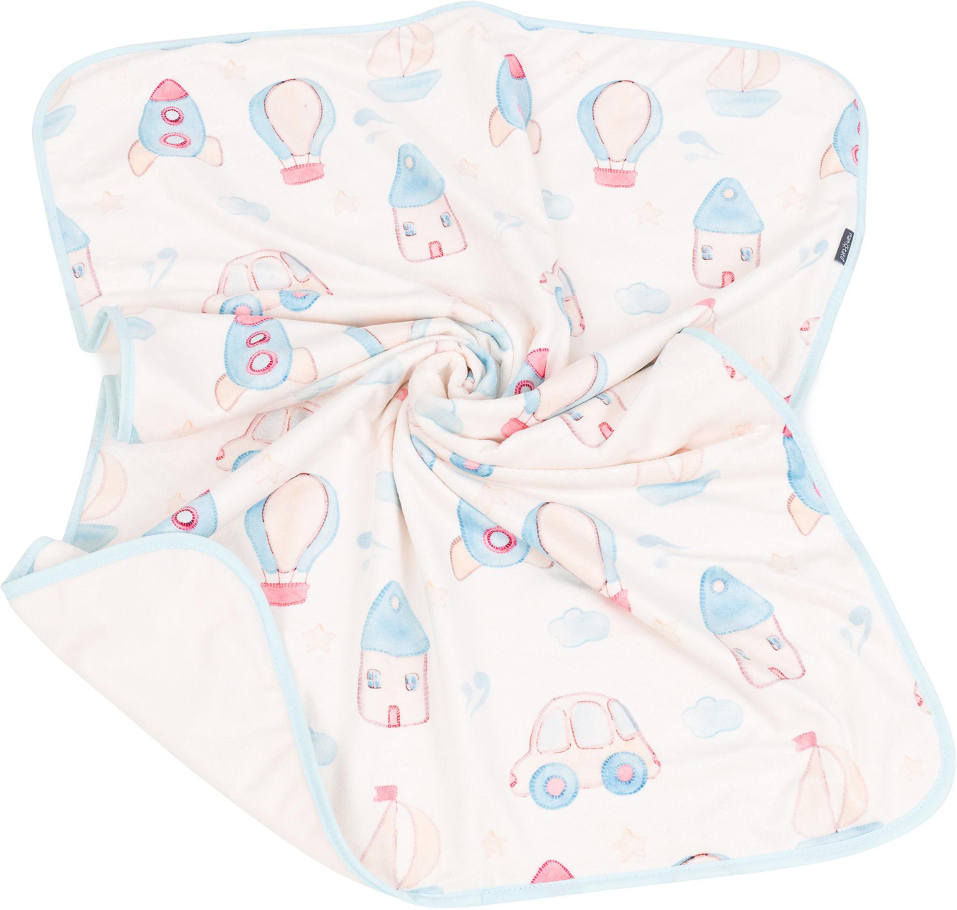 MAMO-TATO Kocyk Minky dla niemowląt i dzieci dwuwarstwowy 75x100 - Zabawki