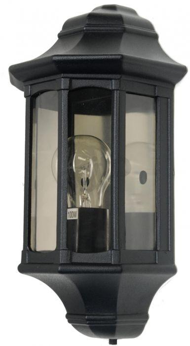 Kinkiet zewnętrzny Elstead Newbury GZH/NB7 klasyczna oprawa w kolorze czarnym