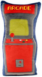 Game Over poduszka gra Arcade niebieska/czerwona, haftowana, 100% poliester, w woreczku foliowym.