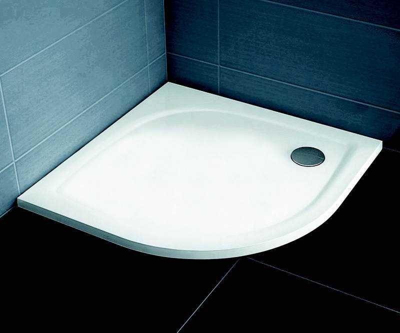 Ravak brodzik prysznicowy konglomerat niski Elipso Pro Flat 90 biały XA237711010