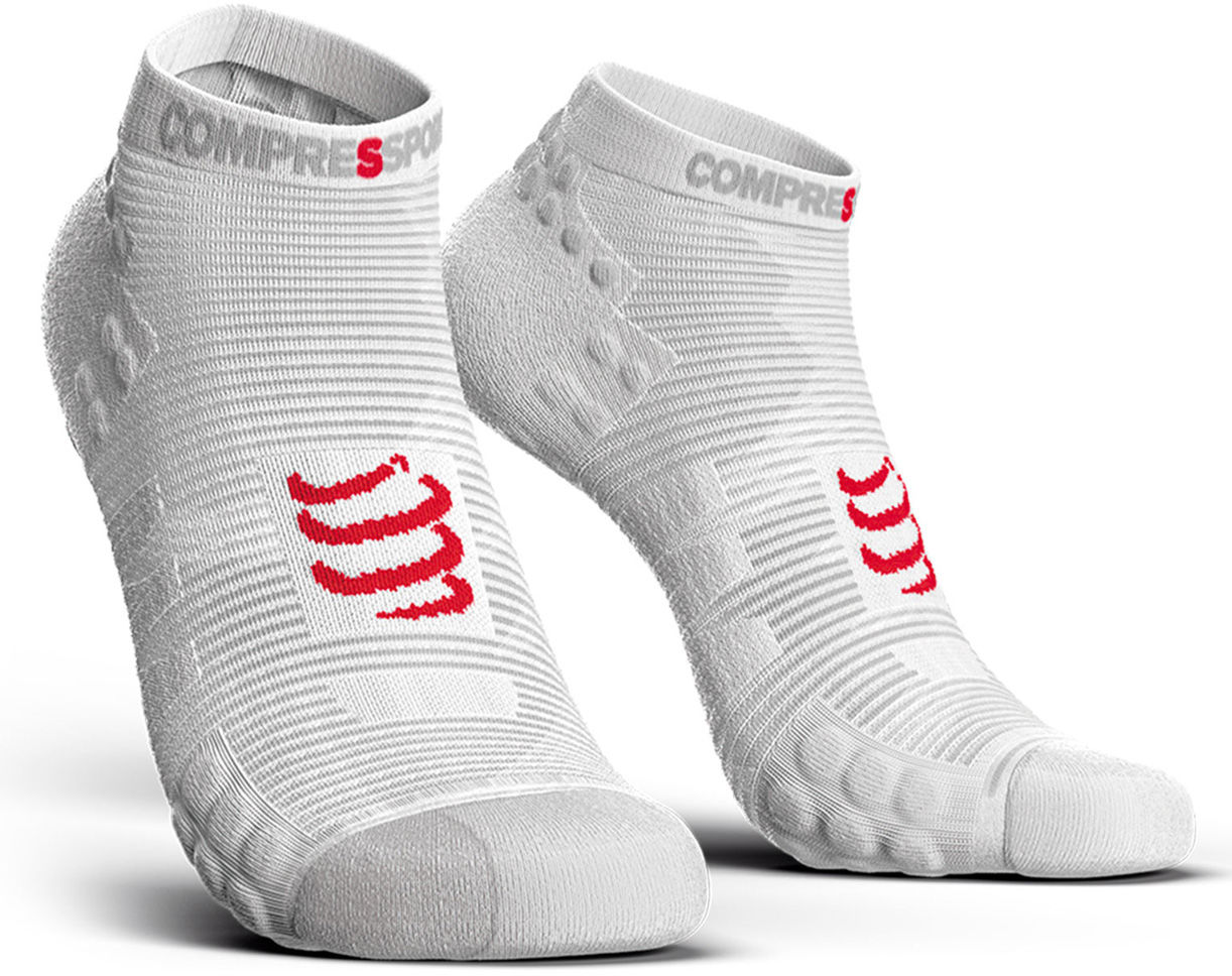 Stopki do biegania Compressport Racing Socks V3.0 Run Low Smart White