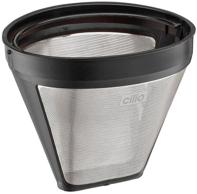 Cilio - filtr do kawy, rozmiar 4,  12,50 cm, srebrny