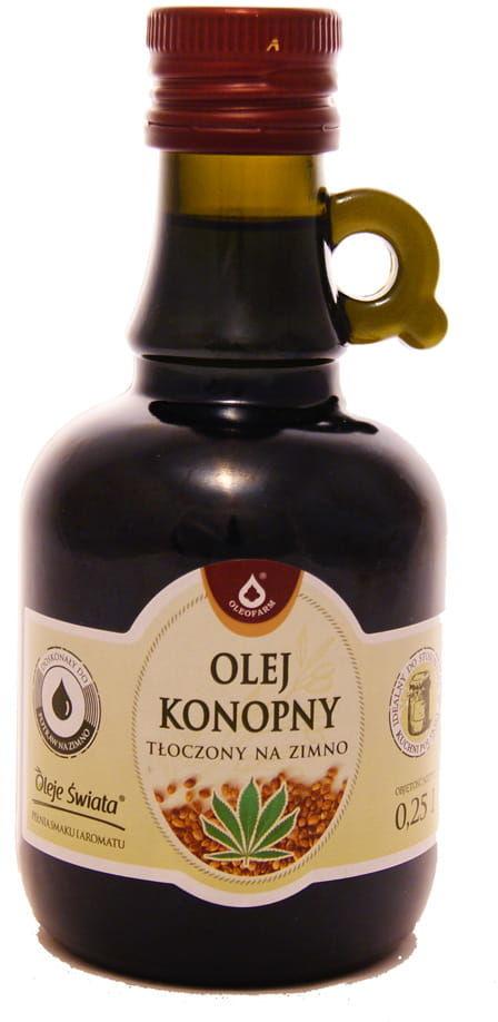 Olej konopny tłoczony na zimno - Oleofarm - 250ml