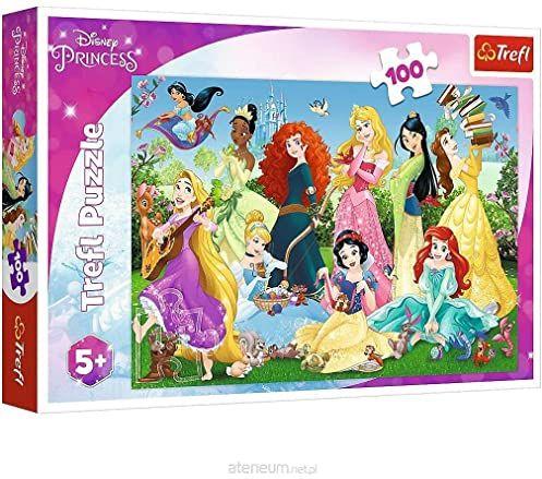 Trefl Czarujące Księżniczki Puzzle 100 Elementów o Wysokiej Jakości Nadruku dla Dzieci od 5 lat