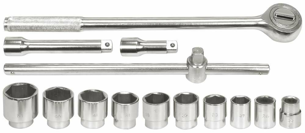 Klucze nasadowe 3/4'', 22-50mm, kpl. 14szt. 58140 - ZYSKAJ RABAT 30 ZŁ