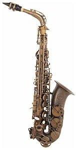 GRASSI GR ACAS300W Eb Saksofon altowy, nielakierowane antyczne wykończenie
