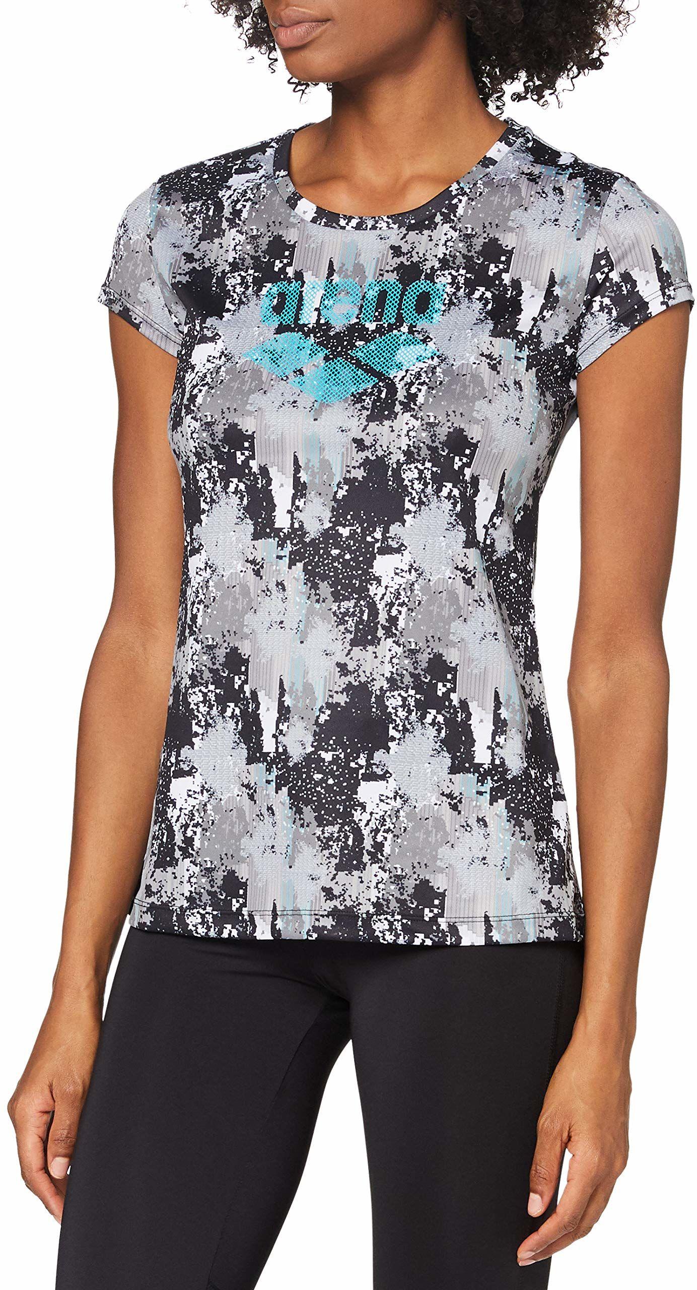 ARENA Arena damska koszulka z logo Gym wielokolorowa Pixel Planet XS