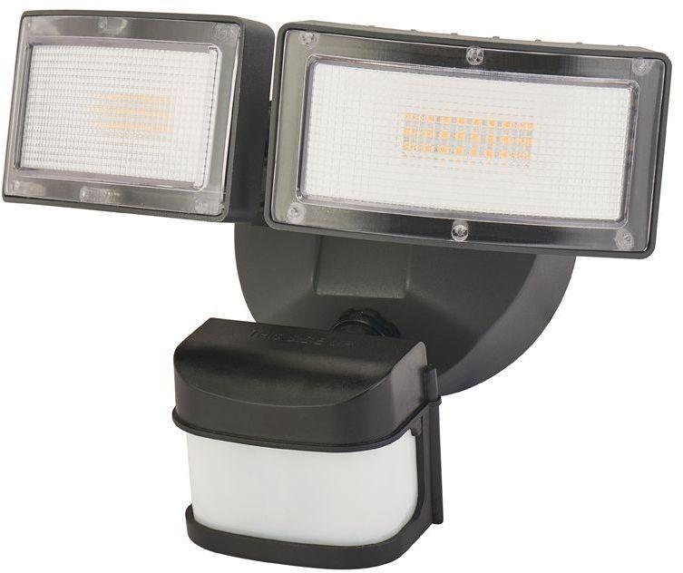 Lampa ogrodowa naświetlacz LED IP54 czujnik ruchu PIR Duo czarny 6556-PIR - Su-ma Do -17% rabatu w koszyku i darmowa dostawa od 299zł !