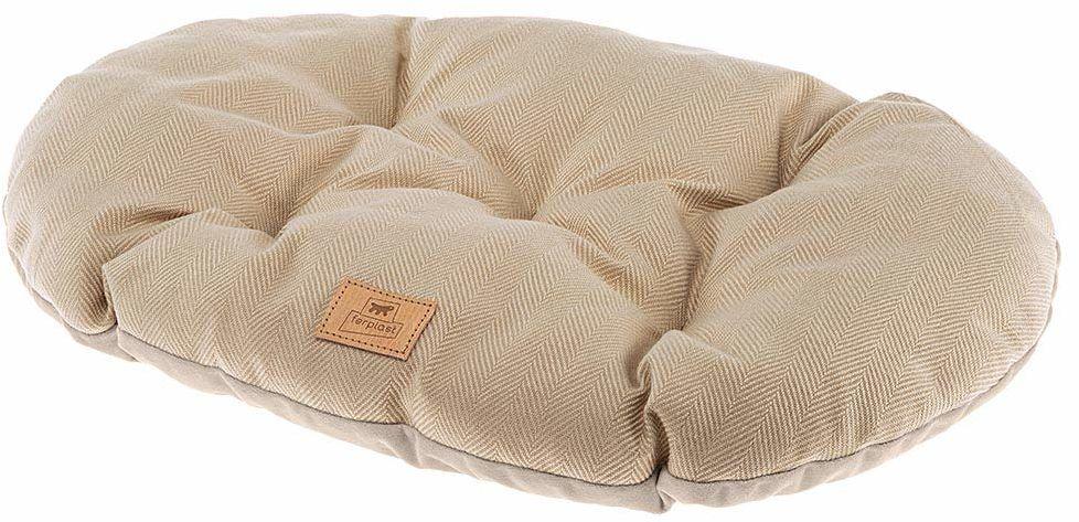 Poduszka dla psów i kotów STUART 78/8, dwustronna, z tweed, miękkiego aksamitu, nadaje się do prania, beżowa