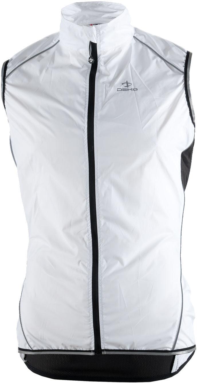 DEKO VEM-001 lekka kamizelka rowerowa, męska, biały Rozmiar: XL,VEM001-WHT