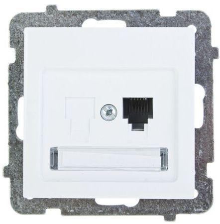 AS Gniazdo telefoniczne pojedyncze RJ11 białe GPT-1G/m/00