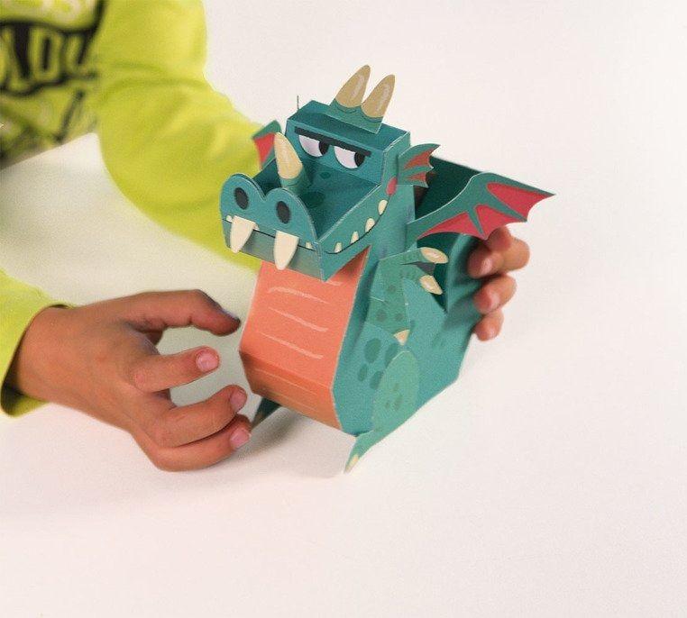 Zestaw artystyczny Papierowe postacie Chłopiec, JANOD 6 lat+ - Papierowe postacie Chłopiec