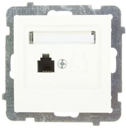 AS Gniazdo telefoniczne pojedyncze RJ11 ecru GPT-1G/m/27