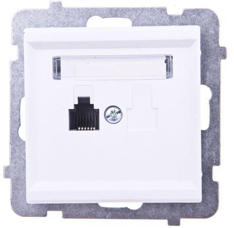 SONATA Gniazdo telefoniczne pojedyncze RJ11 białe GPT-1R/m/00