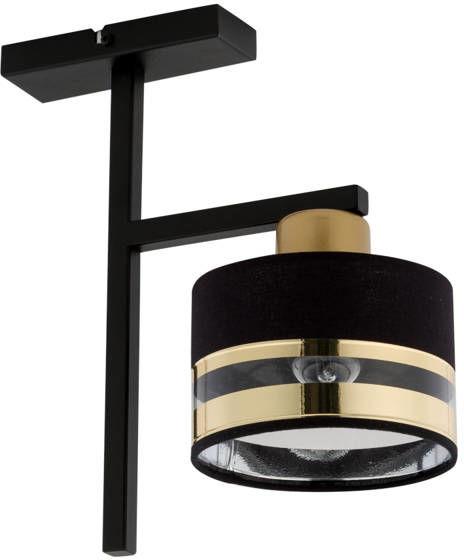 Nowoczesna lampa sufitowa PRO 1 PLAFON czarny/złoty 32151