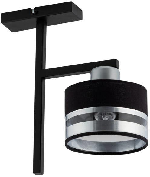 Nowoczesna lampa sufitowa PRO 1 PLAFON czarny/srebrny 32152