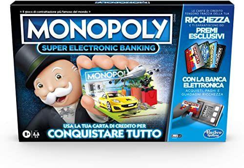 Hasbro Monopoly Super Electronic Banking (gra w pudełku z grami Hasbro Gaming)