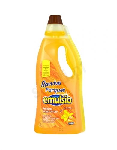 Emulsio Ravviva Parkiet - Płyn do drewnianych podłóg o zapachu arganowym (750 ml)