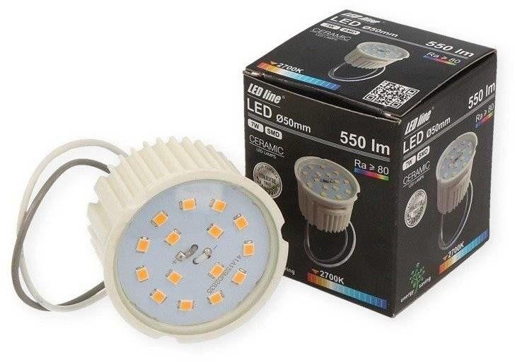 Żarówka insert LED line SMD 7W 550lm DIMM ściemnialna ciepła 2700K
