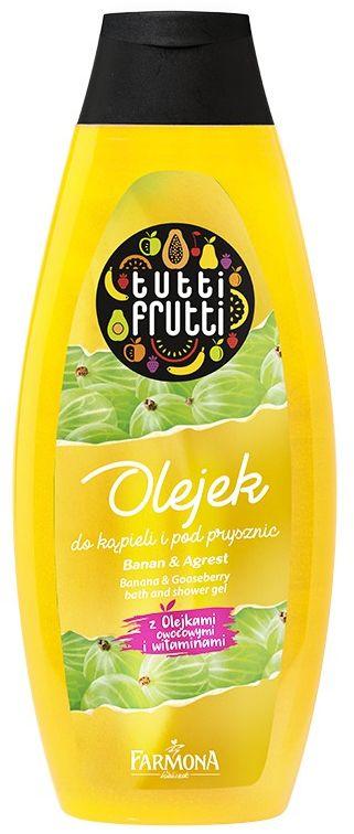 TUTTI FRUTTI Banan & Agrest olejek do kąpieli i pod prysznic 425 ml