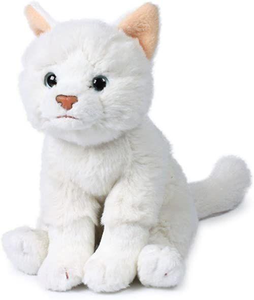 Anna Club plusz ACP16792 - pluszowa figurka kot siedzący 15 cm, biała, pluszowe zwierzątka