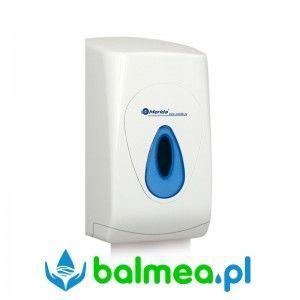 Pojemnik na papier toaletowy w listkach MERIDA TOP MINI - okienko niebieskie