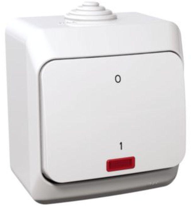 Cedar Plus Łącznik dwubiegunowy biały z podświetleniem WDE000521