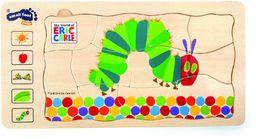 """small foot 10431 puzzle warstwowe""""Gąsienica Nimmersatt"""" z drewna, 5 warstw z różnymi motywami, od 3 lat"""