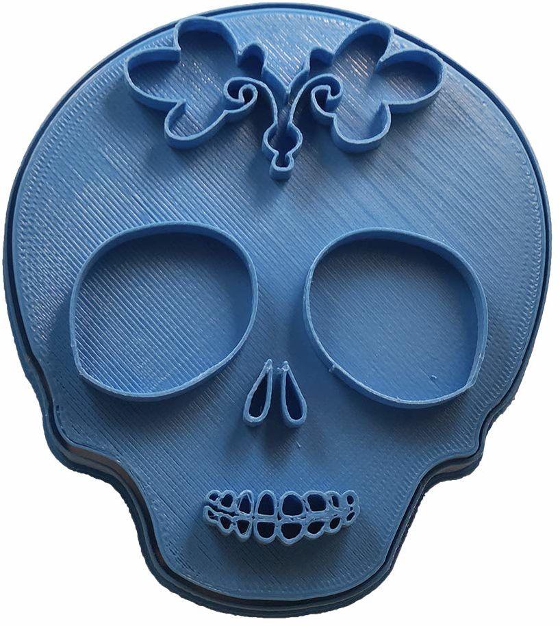 Cuticuter meksykańska trupia czaszka 3 foremki, niebieska, 8 x 7 x 1,5 cm