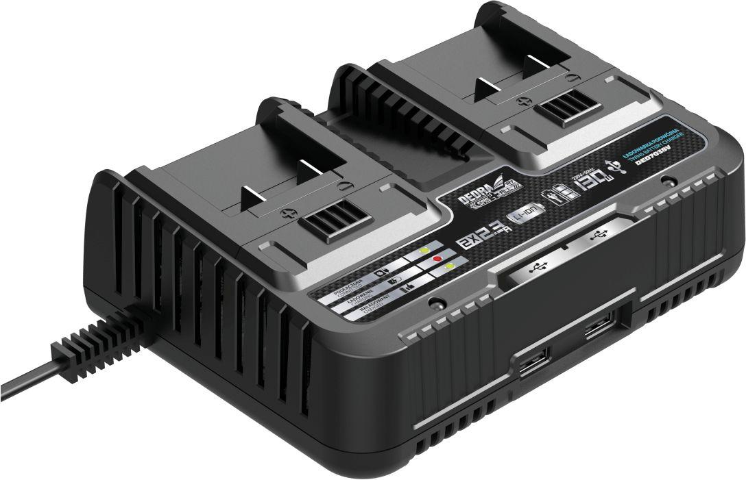 DEDRA Ładowarka na dwa akumulatory, zasilacz SAS+ALL pasuje do DED7032, DED7034, DED7035 (DED7038V)